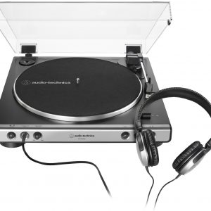 Audio-Technica Gun Metal Fully Automatic Belt-Drive Stereo Turntable With Headphones