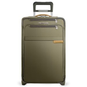 Briggs & Riley Olive Domestic Carry-On Expandable Upright