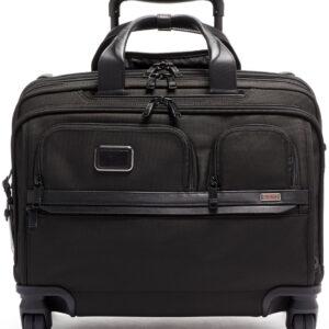 TUMI Alpha 3 Black Deluxe 4 Wheeled Laptop Case Brief