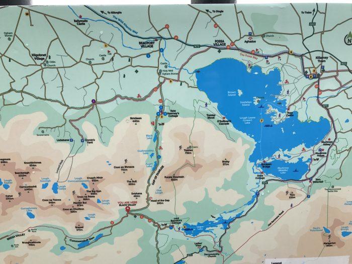 gap of dunloe killarney lakes map 700x525 - The Gap of Dunloe & Killarney Lakes - Ireland at its most beautiful