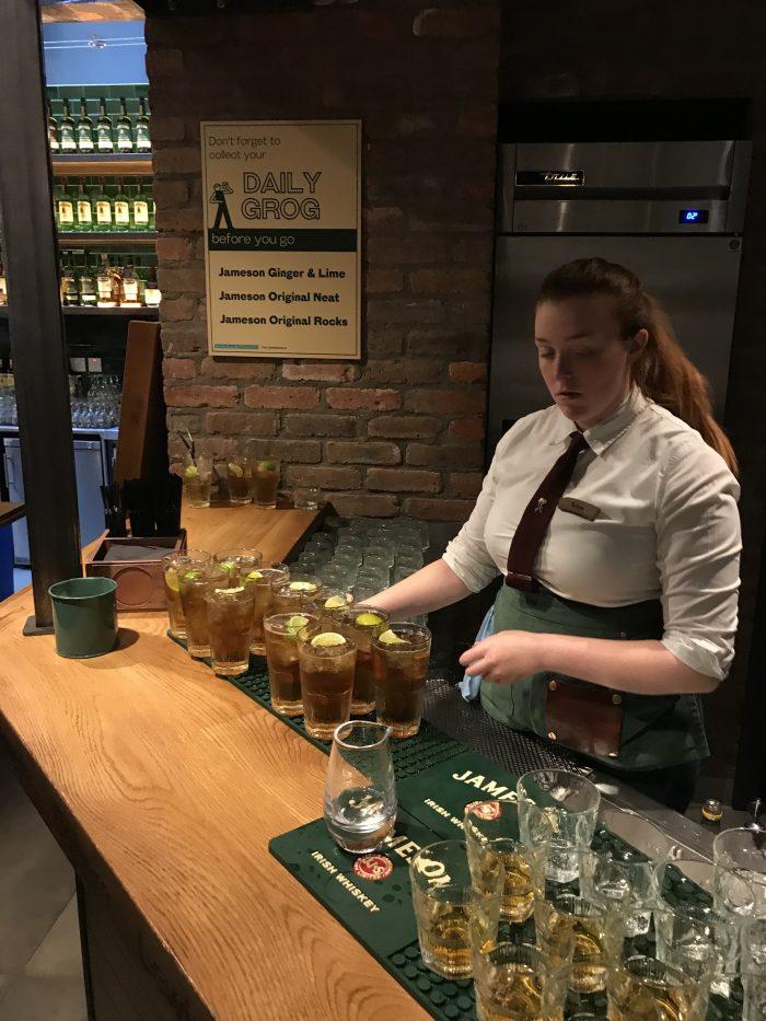 jameson tour tasting dublin bar 700x933 - Jameson Distillery tour & tasting in Dublin, Ireland