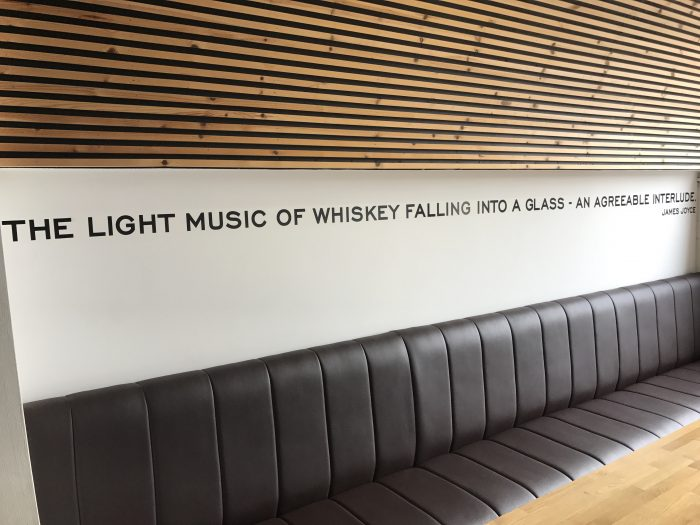 light music of whiskey falling into a glass an agreeable interlude james joyce 700x525 - Teeling Distillery tour & tasting in Dublin, Ireland