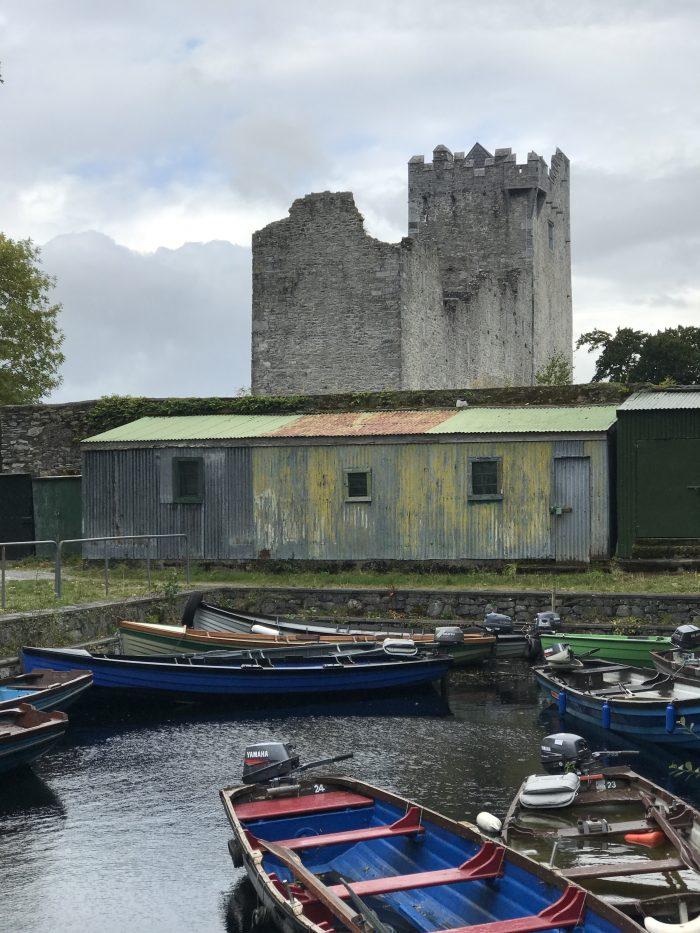 ross castle boat docks 700x933 - Ross Castle & Ross Island in Killarney, Ireland