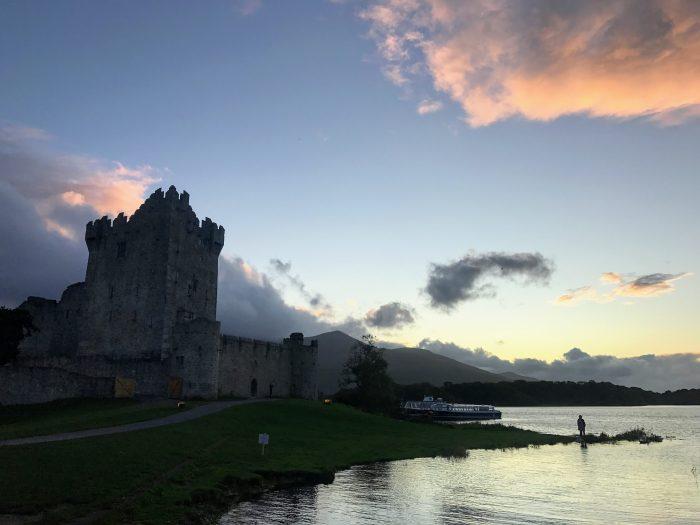 ross castle sunset 700x525 - Ross Castle & Ross Island in Killarney, Ireland