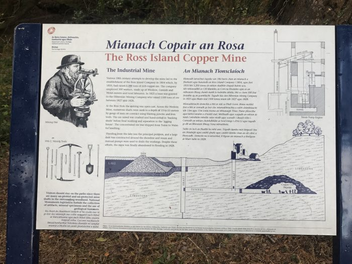 ross island copper mine history 700x525 - Ross Castle & Ross Island in Killarney, Ireland