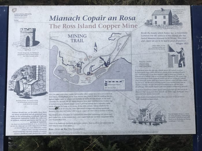 ross island copper mine information 700x525 - Ross Castle & Ross Island in Killarney, Ireland