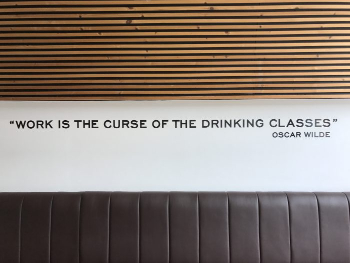 work is the curse of the drinking classes oscar wilde 700x525 - Teeling Distillery tour & tasting in Dublin, Ireland