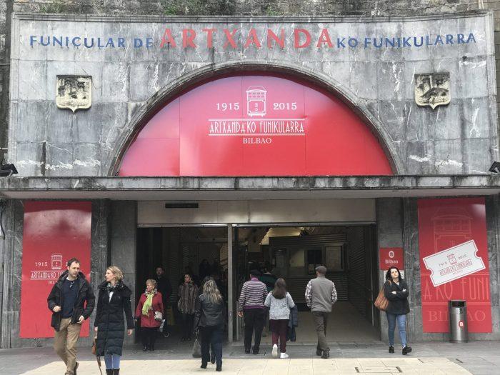 funicular de artxanda entrance bilbao 700x525 - Funicular de Artxanda in Bilbao, Spain