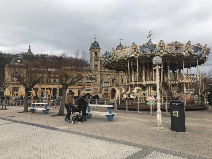 alderdi eder park carousel san sebastian 700x525 - A walk along the San Sebastian promenade to Chillida's Comb of the Wind