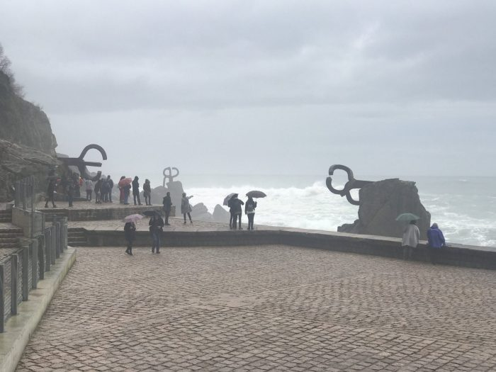 eduardo chillida comb of the wind 700x525 - A walk along the San Sebastian promenade to Chillida's Comb of the Wind
