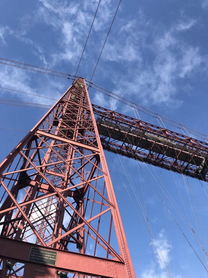 vizcaya bridge tower 700x933 - The historic Vizcaya Bridge in Bilbao, Spain