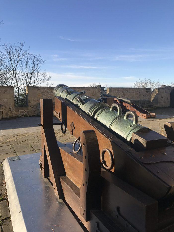 cannons monte urgull 700x933 - Monte Urgullin San Sebastian, Spain