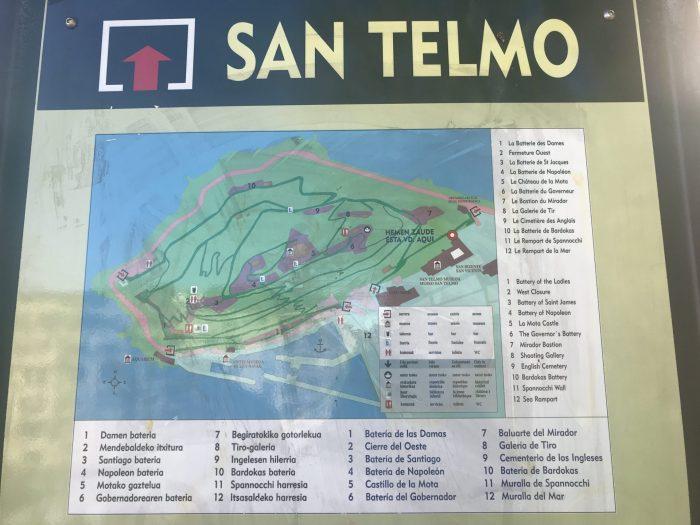 monte urgull map san sebastian 700x525 - Monte Urgullin San Sebastian, Spain