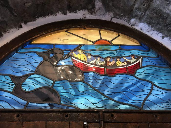 san juan de gaztelugatxe church stained glass 700x525 - A day trip to San Juan de Gaztelugatxe AKA Dragonstone from Game of Thrones