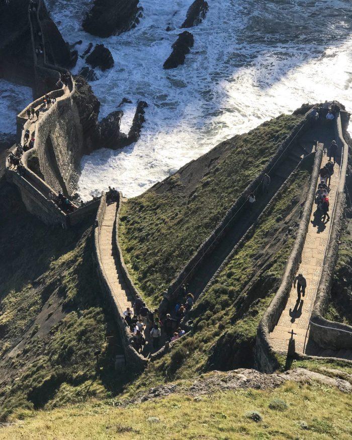san juan de gaztelugatxe climb path 700x875 - A day trip to San Juan de Gaztelugatxe AKA Dragonstone from Game of Thrones