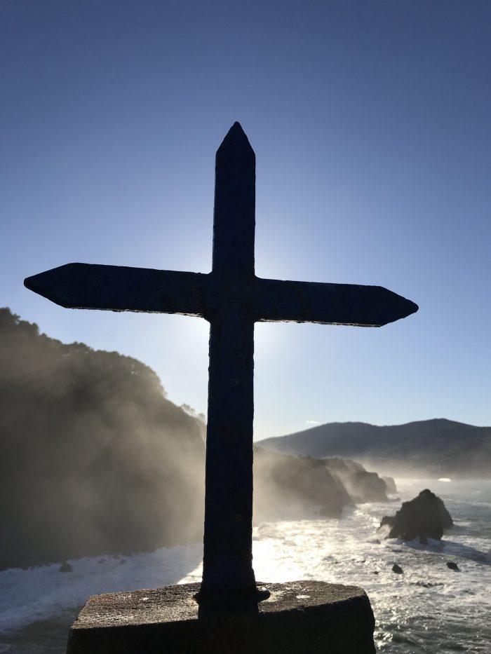 san juan de gaztelugatxe cross 700x933 - A day trip to San Juan de Gaztelugatxe AKA Dragonstone from Game of Thrones