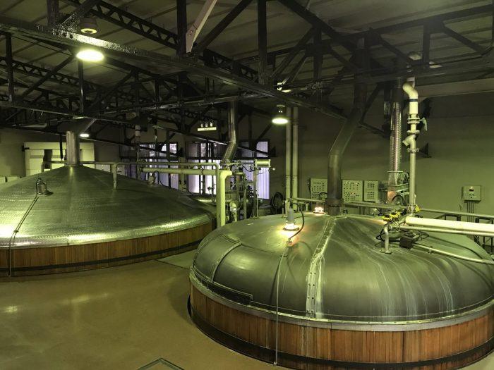 yamazaki distillery fermentation room 700x525 - Yamazaki Distillery tour & tasting visit in Japan