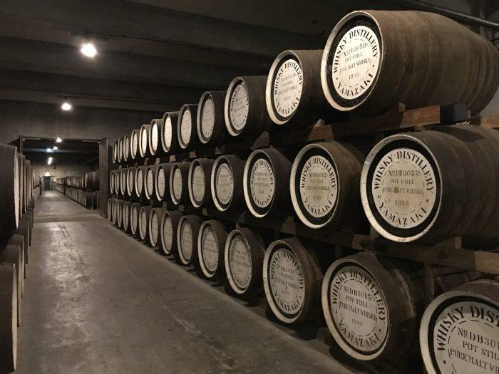 yamazaki distillery warehouse barrels 700x525 - Yamazaki Distillery tour & tasting visit in Japan